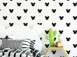 Mickey Mouse Wall Decal Mickey Heads Decal Kids Room Decal Etsy