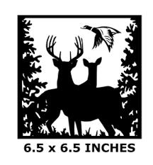 Country Deer Duck Scene Vinyl Decal For 8 Glass Block Diy Crafts Buck Doe Ebay