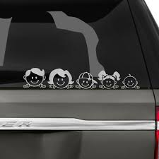 Peeping Family Car Decal Family Car Stickers Family Car Decals Family Car