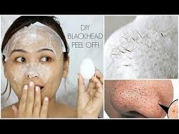 diy blackhead l off mask with an egg