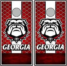 Backyard Games Georgia Bulldogs Cornhole Decals