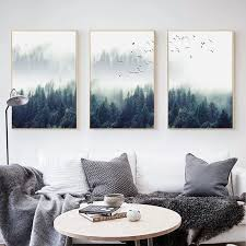 Nordic Style Kids Room Decor Forest Landscape Canvas Poster And Prints Home Decoration Wall Art Picture For Living Room No Frame Painting Calligraphy Aliexpress