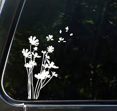 Car Flowers In The Wind Vinyl Car Decal Sticker Etsy In 2020 Car Decals Vinyl Car Decals Stickers Cute Car Decals
