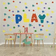 Guliguli Paint Splatter Wall Decal Ink Splotch Vinyl Stickers For Toddler Boys Girls Kids Room Bedroom Playroom Decor Educational Toys Planet