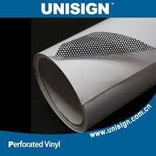 China Windows Decals Perforated Vinyl Stickers One Way Vision Film Roll China Perforated Vinyl Mesh Film