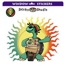 Kk192 Rasta Turtle Window Sticker Stickerbiz Com