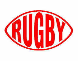 Rugby Vinyl Window Decal Red 2 5 X 4 5 Football Ball Sport Game Ebay