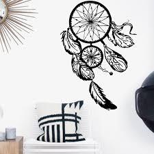 Mega Discount 1987d Art Design Dream Catcher Vinyl Wall Sticker Home Decor Feathers Night Symbol Indian Decal Bedroom Livingroom Dream Catch Cicig Co