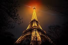 eiffel tower night paris vignette
