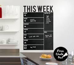 Write Wipe Weekly Wall Calendar Planner Board Vinyl Wall Decal Sticker Free Ch Weekly Wall Calendar Chalkboard Wall Calendars Weekly Wall Planner