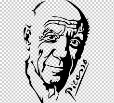 Wall Decal Picasso 16 Art Stickers Drawing Picasso White Face Hand Png Klipartz
