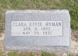 Clara Effie Reed Hyman (1902-1931) - Find A Grave Memorial