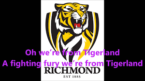 Richmond Tigers theme song (Lyrics) AFL ...