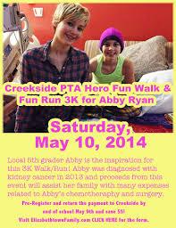 Creekside Hero Fun Walk/Fun Run 3K for Abby Ryan