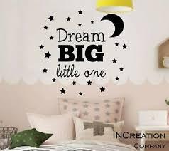 Dream Big Little One Wall Decal Children Room Vinyl Wall Sticker Stars Moon Gift Ebay