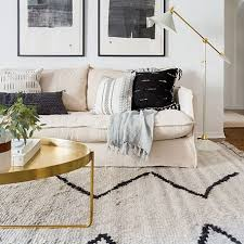 aya moroccan rug beige living