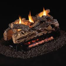 s9 2 split oak ventless gas log set