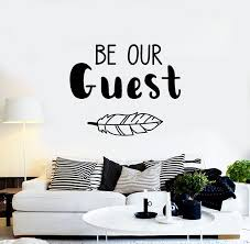 Vinyl Wall Decal Be Our Guest Lettering Home Decor Welcome Stickers Mu Wallstickers4you
