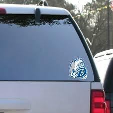 Drake University Window Decal Set Of 2 Bulldog