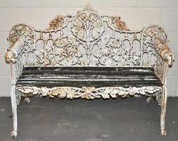 a victorian cast iron garden bench
