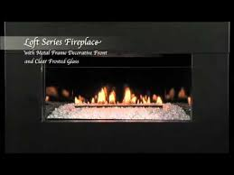 28 loft series vent free fireplace in