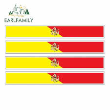 Earlfamily 13cm X 1 7cm 4pcs Car Stripe Motorcycle Racing Flag Sticker Car Window Decal Bike Sicilia Italy Sicily Car Stickers Car Stickers Aliexpress