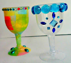 Image result for colored glass kiddush cup
