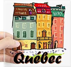 Amazon Com Cafepress Quebec City Sticker Square Bumper Sticker Car Decal 3 X3 Small Or 5 X5 Large Home Kitchen