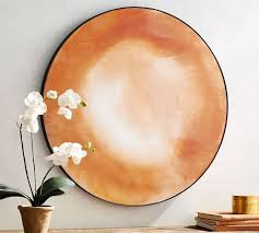remi round rose gold antique glass wall