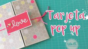 Tarjeta Pop Up Super Facil Pop Up Box Cards Pop Up Cards Paper Craft Videos