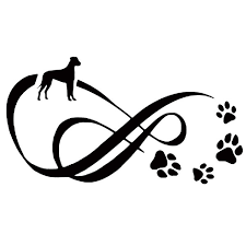 18 2 9 8cm Great Dane Dog Paw Print Car Stickers Vinyl Decal Car Styling Truck Decoration Wish