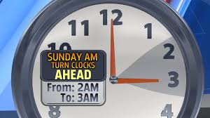hour on Sunday for daylight saving ...