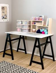 diy sawhorse craft desk