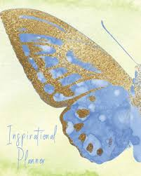 com inspirational planner nature butterfly theme