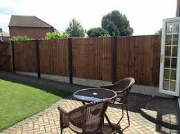 Slotted Concrete Fence Post Extender Sleeve Extension Steel Brown Ebay