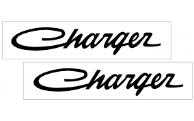 Graphic Express Charger Script Name Decal Set Small 1 9 X 10