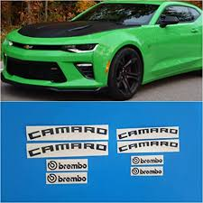 Amazon Com R G Chevy Camaro Brembo High Temp Brake Caliper Decals Stickers Bundle Set Of 8 Decals Instructions Decal Surface Preparation Solution Black Everything Else