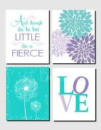 Teal Purple Lavender Kids Wall Art Brooklyn Nursery Girls Etsy Girls Bedroom Teal Art Wall Kids Girls Room Diy
