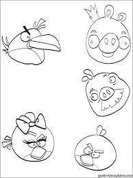 Boze Gevogelte Angry Birds Kleurplaten Gratis Kleurplaten
