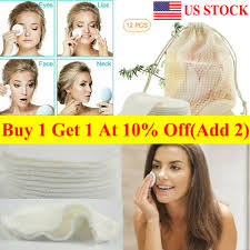reusable bamboo cotton soft face wipes