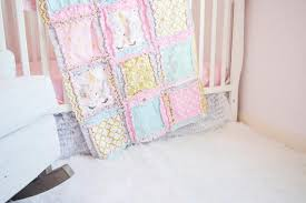 unicorn crib bedding baby girl nursery