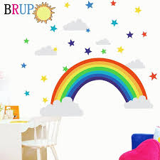 New Colorful Rainbow Wall Stickers For Kids Room Furniture Decoration Home Decor Wall Decals Living Room Stickers Poster Murals Bedroom Wall Transfers Best Wall Decals From Qiangweiflo 21 45 Dhgate Com