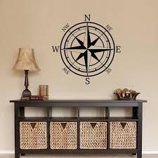 Compass Rose Nautical Mural Vinyl Wall Art Decal Sticker Decor Etsy
