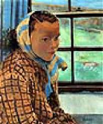 Portrait of a girl by a window by Hilda Roberts on artnet