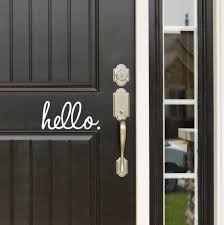 Door Decal Hello Door Decal Hello Decal Wall Decal Hello Etsy