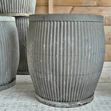 10 easy pieces zinc barrel planters