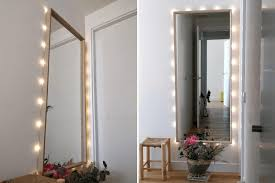 lighted mirror with ikea nissedal