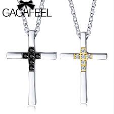 gagafeel simple couple cross necklace