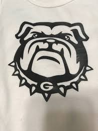 Georgia Bulldogs Vinyl Decal Or T Shirt Iron On Etsy