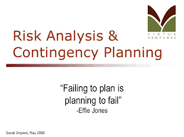 Social Impact, May 2008 Risk Analysis & Contingency Planning ...